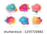 dynamic liquid shapes. set of... | Shutterstock .eps vector #1255720882
