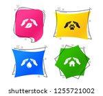 hands insurance icons. shelter... | Shutterstock .eps vector #1255721002
