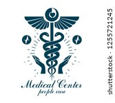 pharmacy caduceus icon  medical ... | Shutterstock .eps vector #1255721245