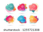 dynamic liquid shapes. set of... | Shutterstock .eps vector #1255721308
