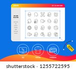 face recognition line icons.... | Shutterstock .eps vector #1255722595