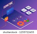 isometric vector. set of... | Shutterstock .eps vector #1255722655