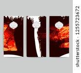 set of vector business card... | Shutterstock .eps vector #1255723672