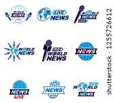 social mass media logo  emblems ...   Shutterstock .eps vector #1255726612