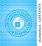open lock icon inside water... | Shutterstock .eps vector #1255737475