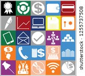 set of 25 business icons ... | Shutterstock .eps vector #1255737508