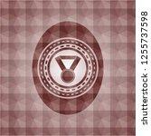medal icon inside red seamless... | Shutterstock .eps vector #1255737598