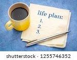 life plan concept  a blank list ... | Shutterstock . vector #1255746352