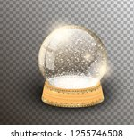 vector snow globe empty... | Shutterstock .eps vector #1255746508