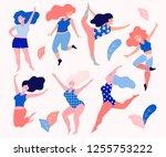 happy beautiful active plus...   Shutterstock .eps vector #1255753222