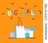 big sale season poster.online... | Shutterstock .eps vector #1255757782