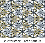 graphic flower pattern vector... | Shutterstock .eps vector #1255758505