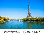 eiffel tower or tour eiffel is...   Shutterstock . vector #1255761325
