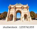 arc de triomphe du carrousel is ... | Shutterstock . vector #1255761355