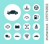 auto icons set with speedometer ... | Shutterstock .eps vector #1255762822
