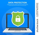 data protection  privacy  and... | Shutterstock .eps vector #1255765552