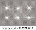 star explodes on transparent... | Shutterstock .eps vector #1255773412