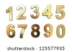 golden numbers  isolated on... | Shutterstock . vector #125577935