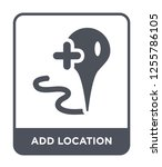 add location icon vector on... | Shutterstock .eps vector #1255786105