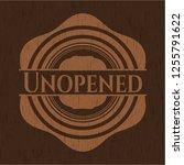 unopened vintage wooden emblem   Shutterstock .eps vector #1255791622
