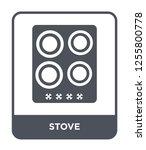 stove icon vector on white... | Shutterstock .eps vector #1255800778
