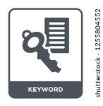 keyword icon vector on white... | Shutterstock .eps vector #1255804552