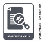 search for virus icon vector on ... | Shutterstock .eps vector #1255804585