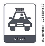 driver icon vector on white... | Shutterstock .eps vector #1255804672