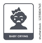 baby crying icon vector on...   Shutterstock .eps vector #1255804765