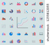 comparative chart icon. charts  ... | Shutterstock .eps vector #1255812055