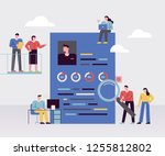 people who look at applicant's... | Shutterstock .eps vector #1255812802