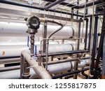 pressure transmitter in power... | Shutterstock . vector #1255817875