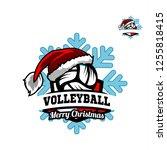 volleyball santa snow flake...   Shutterstock .eps vector #1255818415