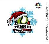 tennis santa snow flake logo 01   Shutterstock .eps vector #1255818418