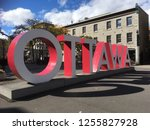 ontario big ottawa sign on... | Shutterstock . vector #1255827928