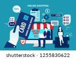 shopping online mobile computer ...   Shutterstock .eps vector #1255830622
