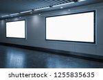 big horizontal poster on metro... | Shutterstock . vector #1255835635
