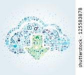 technology concept of cloud...   Shutterstock .eps vector #125583878