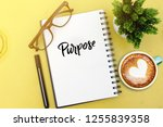 purpose word concept with top... | Shutterstock . vector #1255839358