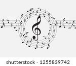 music notes .abstract musical...   Shutterstock .eps vector #1255839742