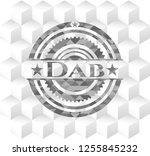 dab grey emblem. vintage with... | Shutterstock .eps vector #1255845232
