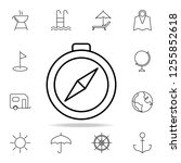 compass icon. element of simple ...