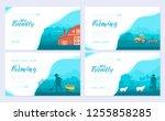 farming life brochure card set. ...   Shutterstock .eps vector #1255858285