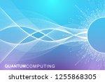 quantum computer technology... | Shutterstock .eps vector #1255868305