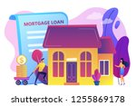 borrower making mortgage... | Shutterstock .eps vector #1255869178