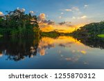 reflection of a sunset by a... | Shutterstock . vector #1255870312