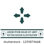 arrows in four directions... | Shutterstock .eps vector #1255874668