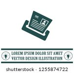 newspaper  press  news vector... | Shutterstock .eps vector #1255874722