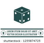 cubes for the game vector icon. | Shutterstock .eps vector #1255874725