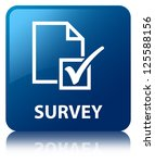 survey glossy blue reflected... | Shutterstock . vector #125588156